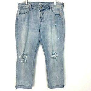 Old Navy Boyfriend Destroyed Light Wash Jeans